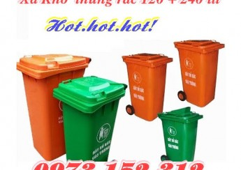 Xả kho thùng rác 120, 240 lít