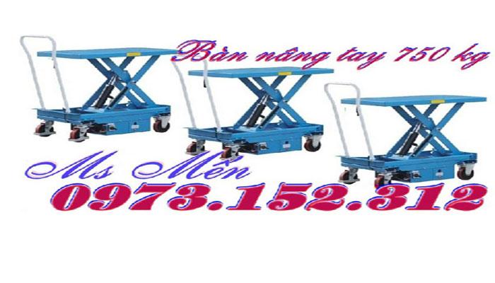 Xe nâng mặt bàn 750 kg, giá rẻ