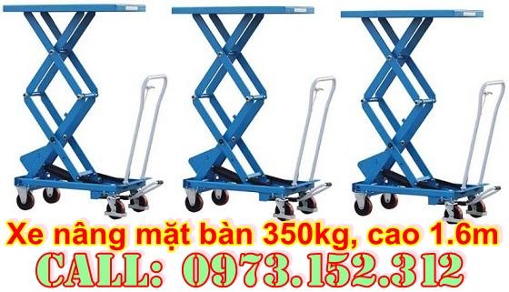xe nâng mặt bàn 350 kg giá rẻ
