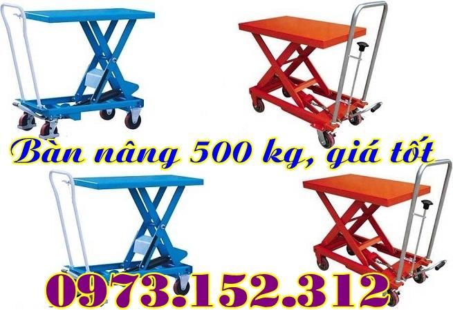 Xe nâng mặt bàn 350 kg, giá rẻ