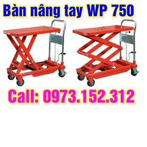 Xe nâng mặt bàn giá rẻ, 750 kg