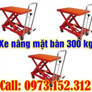 Xe nâng mặt bàn 300 kg, giá rẻ