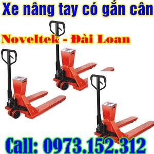 Xe nâng tay gắn cân Noveltek - Đài Loan