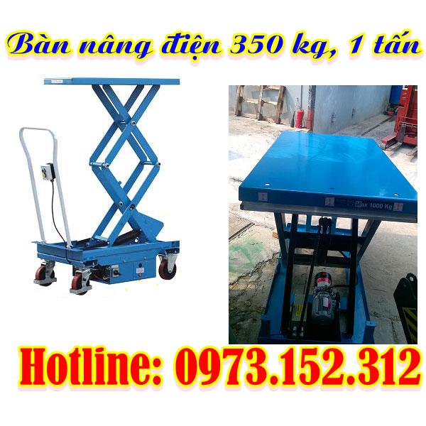 Bàn nâng điện 350 kg, 1 tấn