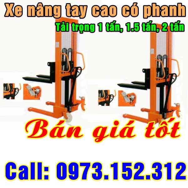 Xe nâng tay cao 1 - 2 tấn Đài Loan