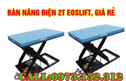 bàn nâng điện 2 tấn  giá rẻ