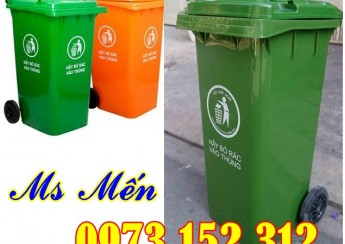 Thùng rác nhựa 120 lít, 240 lít