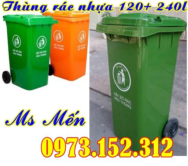 Thùng rác nhựa HDPE 120 lít và 240 lít