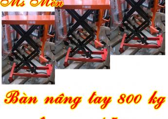 Bàn nâng tay 800 kg nâng cao 1.5m
