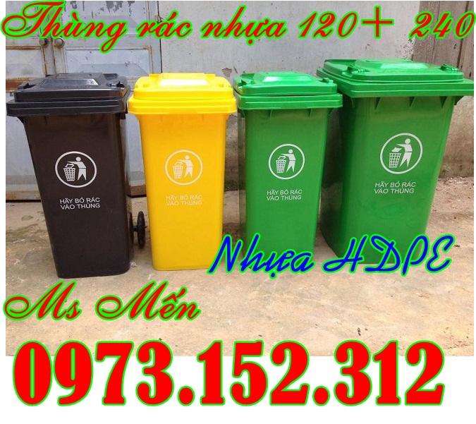 Thùng rác nhựa HDPE cao cấp 120 và 240 lít