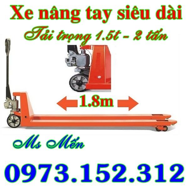 Xe nâng tay siêu dài hàng Đài Loan giá rẻ