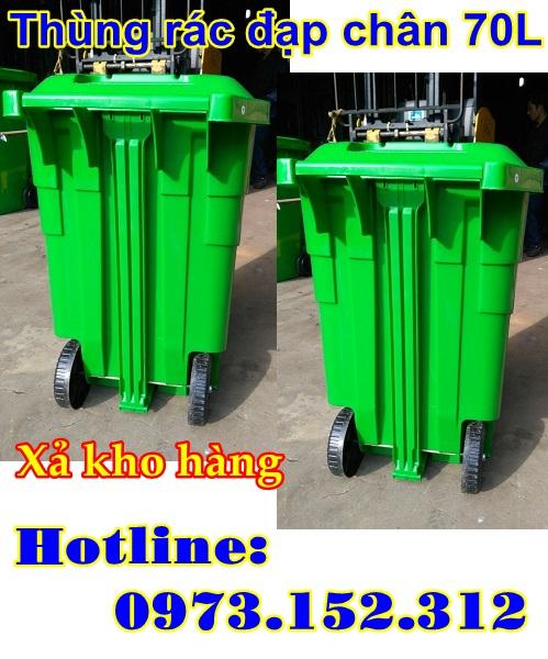 Thùng rác nhựa HDPE cao cấp 70 lít