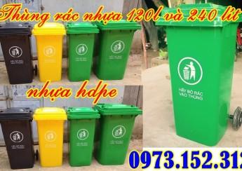 Thùng rác nhựa HDPE cao cấp 120 lít và 240 lít