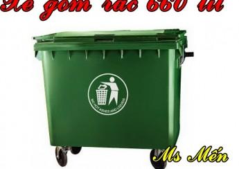 Xe gom rác nhựa HDPE cao cấp