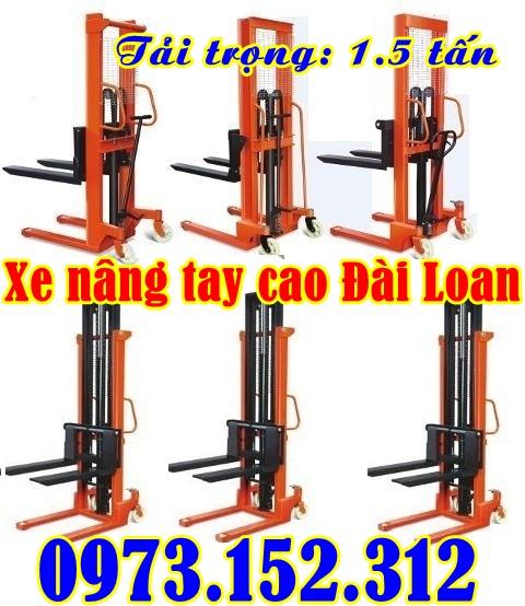 Xe nâng tay cao Đài Loan 1.5 tấn