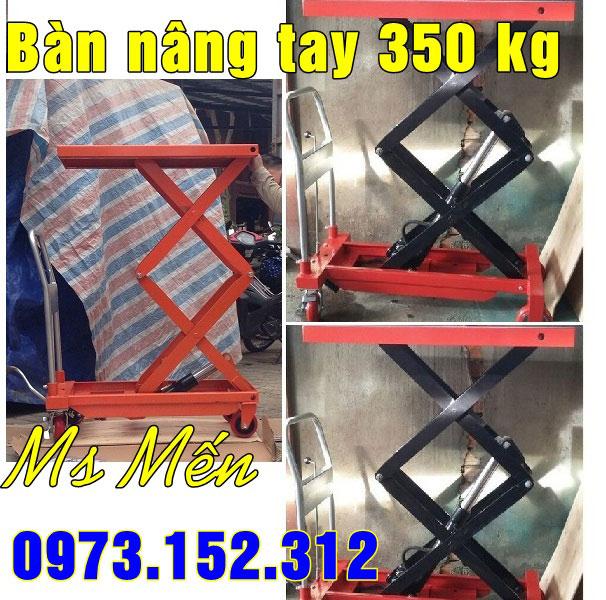 Bàn nâng tay 350 kg nâng cao 1.5m