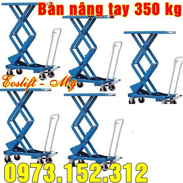 Bàn nâng tay 350 kg nâng cao 1585mm, giá tốt