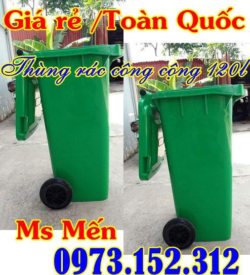 Thùng rác nhựa HDPE 120 lít và 240 lít giá rẻ