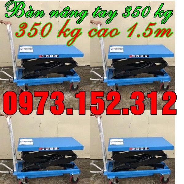 Xe nâng mặt bàn 350 kg hàng Mỹ, giá rẻ