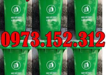 Thùng rác nhựa 120 lít HDPE giá rẻ tại Bắc Ninh