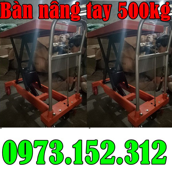 Bàn nâng tay 500 kg cao 90 phân, giá rẻ tại Hà Nội