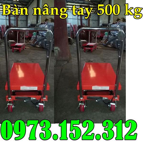 Bàn nâng tay 500 kg nâng cao 90 phân hàng Đài Loan