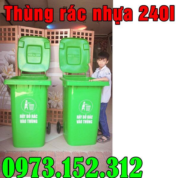 Thùng rác nhựa 240 lít, HDPE giá rẻ tại Sài Gòn