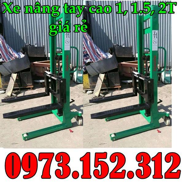Xe nâng tay cao 1.5 tấn, 2 tấn giá rẻ tại Hà Nội